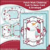 Patch Work Christmas Push To Beau Card & Envelope