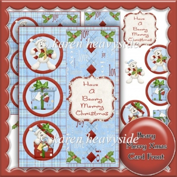 Beary Merry Xmas 7 x 5 Card Front