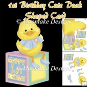 1st Birthday Shaped Ducky Card