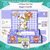 A Flower For You 3D Decoupage Stepper Card Kit