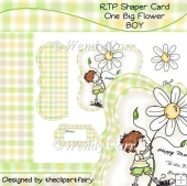 RTP Shaper Card - One Big Flower - BOY(Retiring in August)