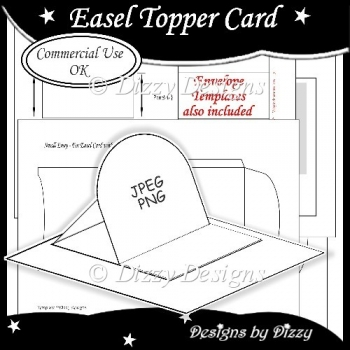Easel Topper Card Template