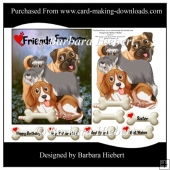 Dog Fur Friends Topper with Decoupage