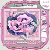 PINK POPPIES All Occasions 7.5 Quick Card & Insert Kit