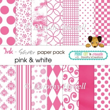 Ink-Saver Paper Pack - Pink