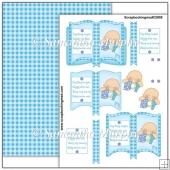 Baby Boy Open Book PDF Decoupage Download