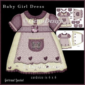 Baby Dress Plump Shaped Card