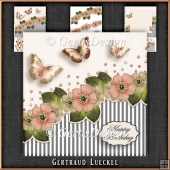 Vintage Stripes and Flowers Card Kit 1093