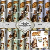 Victorian Cats Set Two 12 x 12 Backing Papers For Cards & Scrap