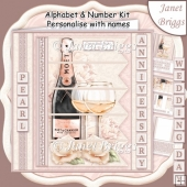 CHAMPAGNE 7.5 Alphabet Pearl Wedding Anniversary Alphabet Kit