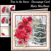 Tree in the Snow - Decoupage Card