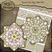 Floral Tea Bag Sheet #2