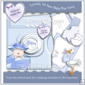 Tumble Tot New Baby Boy Card