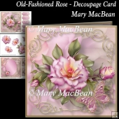 Old-Fashioned Rose - Decoupage Card