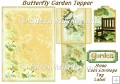 Butterfly Garden Topper with Decoupage
