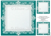 "Sea Green (1) Lace Frames - One 8"" x 8"" and Two 3"" x 3"""