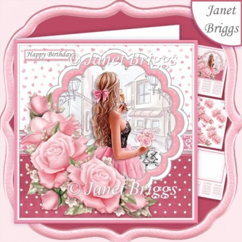 AN EVENING OUT Female Birthday 7.5 Decoupage Ages & Insert Kit
