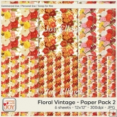12x12 CU Floral Vintage Patterned Papers 2