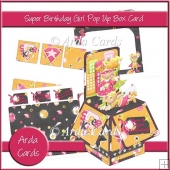 Super Birthday Girl Pop Up Box Card