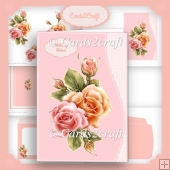 Smaller roses wavy edge card set