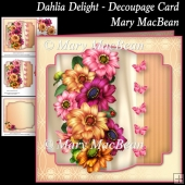 Dahlia Delight - Decoupage Card