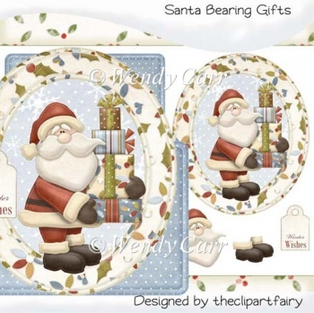 Santa Bearing Gifts Large Card Kit(Retiring in August)