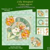 Lily Bouquet - 3-Sheet Mini-Kit