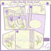 Lilac Buckle Style Card