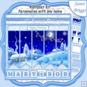 WINTER WONDERLAND Christmas 7.5 Quick Card Kit Create Any Name