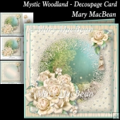 Mystic Woodland - Decoupage Card