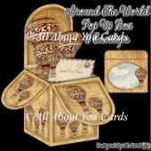 Around The World Pop Up Box Card