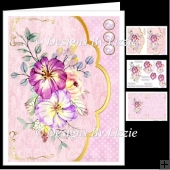Pretty Pink Flowers Envelope