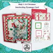 Baby's First Christmas 5.5 Inch Interlocking Pyramage Card