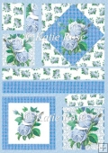 Country Flowers Blue Haze Diamond Plus Topper Card Sheet