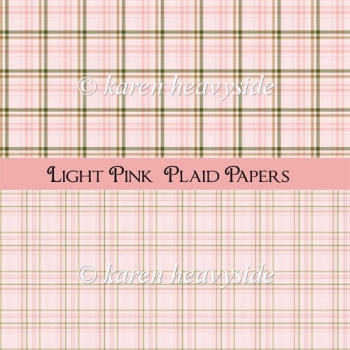 Light Pink Plaid Papers