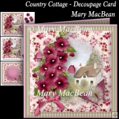 Country Cottage - Decoupage Card