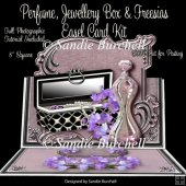 Perfume, Jewellery Box & Freesias 8 x 8 Easel Card Kit