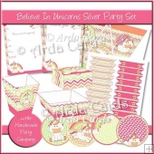 Believe In Unicorns Silver Party Set