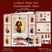 Fashionable Man - 3-Sheet Mini-Kit