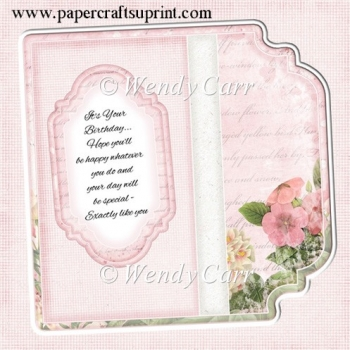 Square Fancy Edges Card Front - Floral 8(Retiring in August)