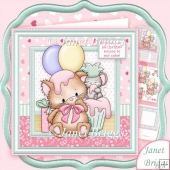 Kitty Cupcake Play 8x8 Birthday Decoupage Kit
