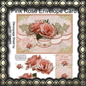Pink Rose Envelope Card