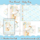 Baby Boy A5 Card Front & Decoupage