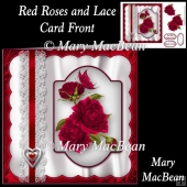 Red Roses and Lace Card Front