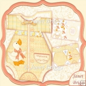 Baby Girl or Boy Lemon Romper Suit Shaped Card Mini Kit