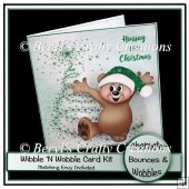Wibble 'n Wobble Card Kit - Hurray It's Christmas