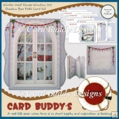 Winter Oast House Window 7x7 Shadow Box Fold Card Kit