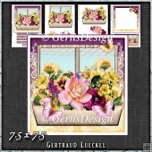Flower Window Spring Bouquette Card Kit 1419