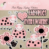 Pink Happy Ladybugs Collection