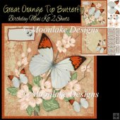 Great Orange Tip Butterfly Birthday Card Mini Kit